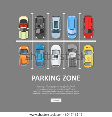 city car parking vector