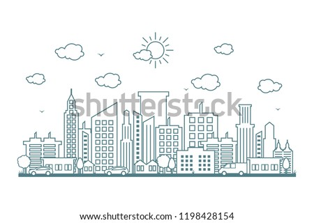 city cityscape skyline street