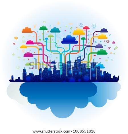 City cloud concept