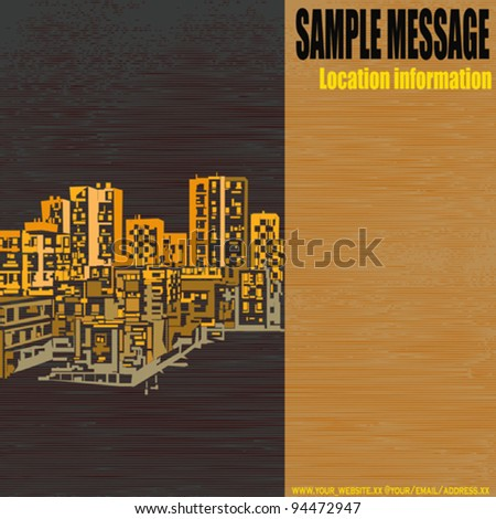 City/Construction Vector Flyer/Background