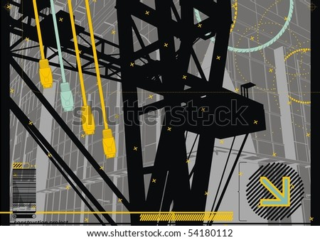 City Crane Design with USB Plugs.