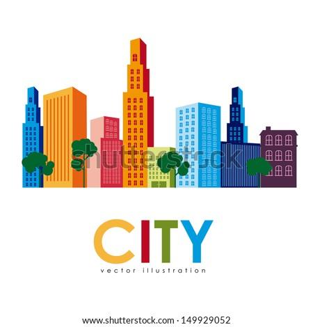 city design over white background vector illustration