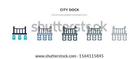 city dock icon in different
