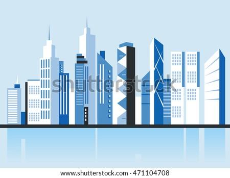 city downtown landscape....