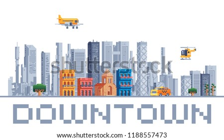 city downtown urban landscape