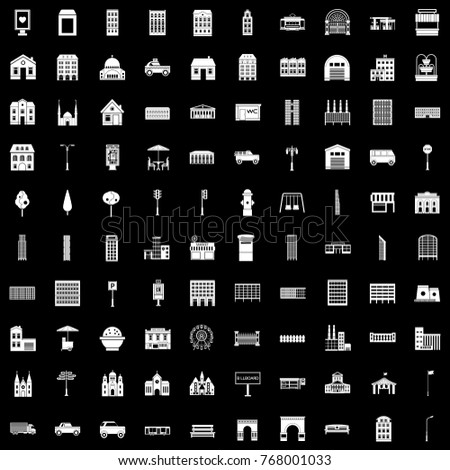 city elements icons