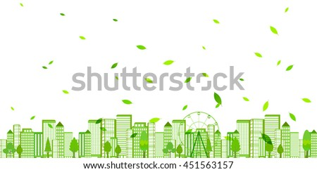 city fresh green eco background