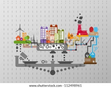 City graphic - stock vector