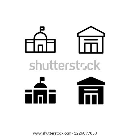 city hall icon logo vector