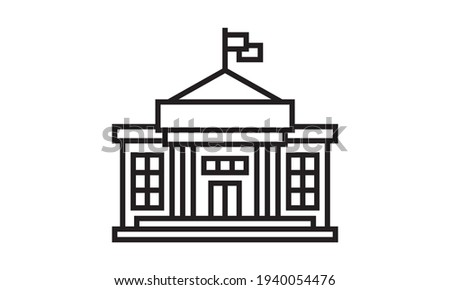 City hall icon. Trendy flat vector City hall icon on white background from Architecture and Travel collection Stock fotó ©