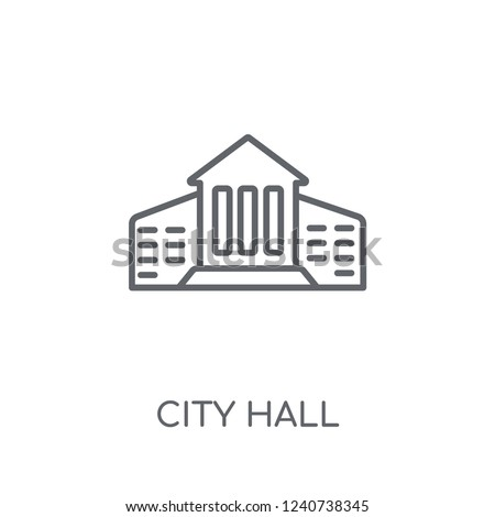 City hall linear icon. Modern outline City hall logo concept on white background from Architecture and Travel collection. Suitable for use on web apps, mobile apps and print media.