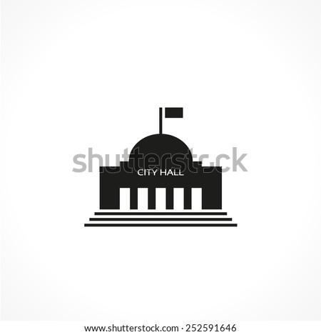 city hall-vector icon