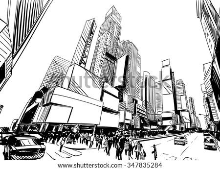 Line Art City : How to create a line art city landscape in adobe illustrator