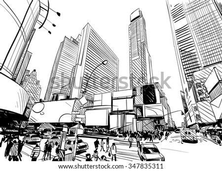 Line Art City : Graffiti city download free vector art stock graphics images