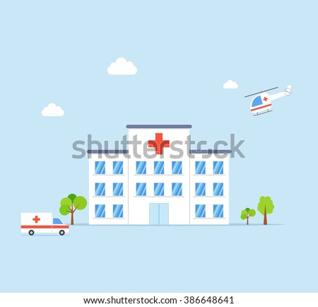city hospital building with