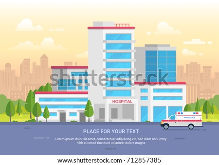 city hospital with place for