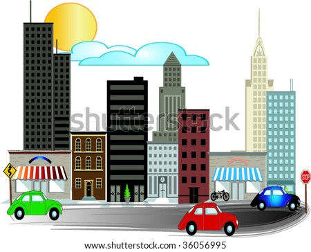 Busy City Clipart City Illustrations With Busy