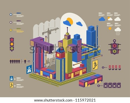 city info graphic,colorful building background