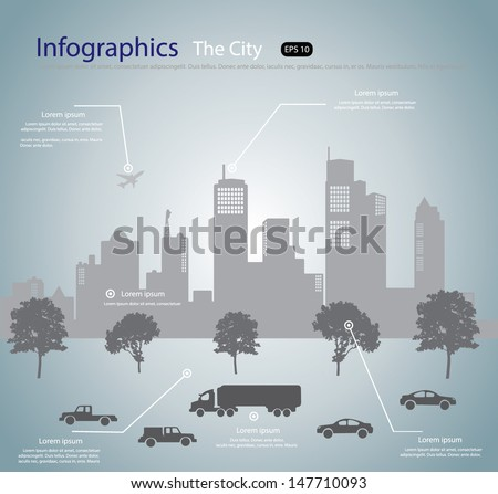 city info graphic  vector
