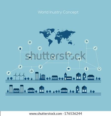 Stock Photo City Infographic Design. Vector