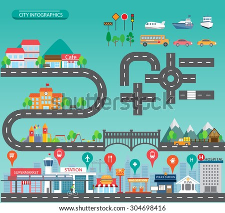 city infographics background...