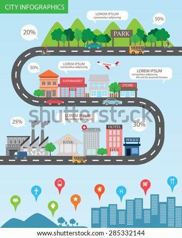 city infographics background