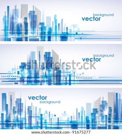 City Landscape. - stock vector