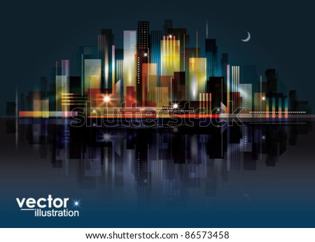 city landscape at night