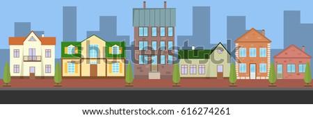 city landscape  street flat