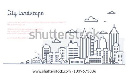 city landscape template. thin...