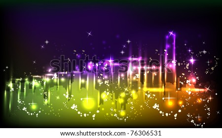 city light neon abstract background
