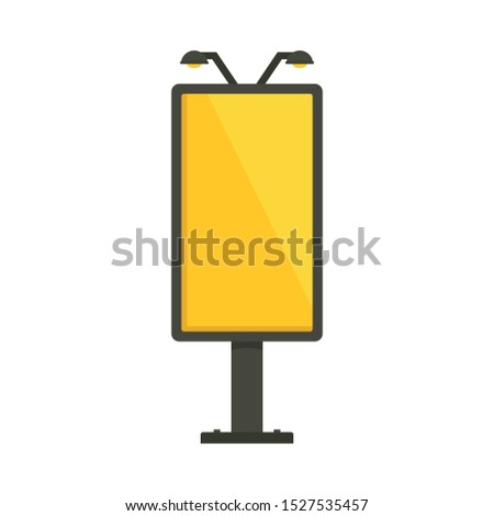 City lightbox icon. Flat illustration of city lightbox vector icon for web design