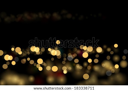 City lights abstraction. Vector eps 10