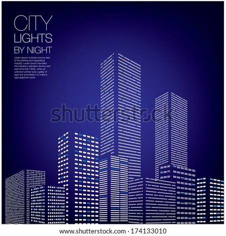 city lights by night