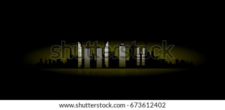 city lights in the night vector