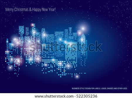 city lights new year vector