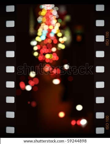 city lights  vector background