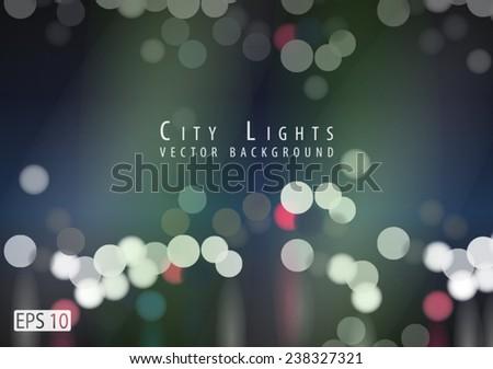 city lights vector background