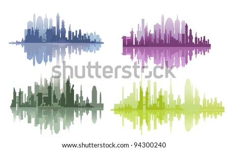 city lines - stock vector