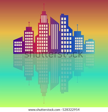 city logo  colorful city at