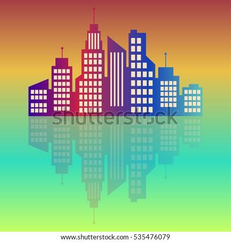 city logo  colorful city at