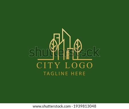 city logo line simple city logo