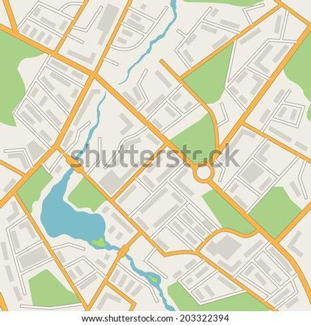City map abstract seamless pattern vector background.