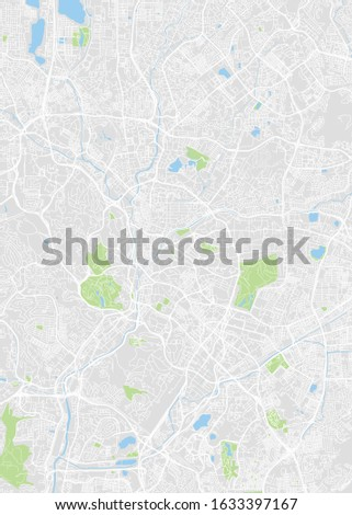 city map kuala lumpur  color