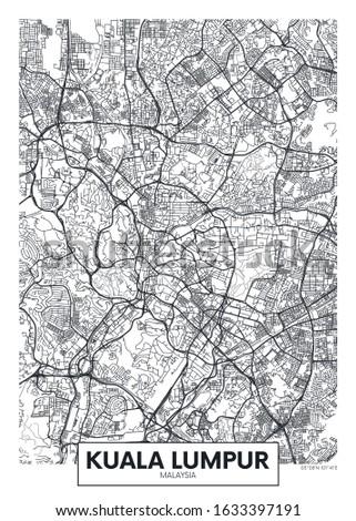 city map kuala lumpur  travel