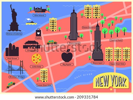 city map of new york city united states