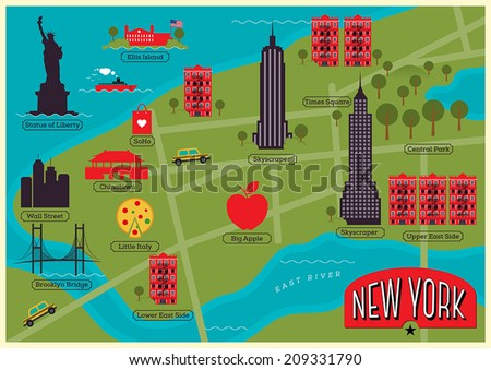 New York City Map Download Free Vector Art Stock Graphics Images - New york map