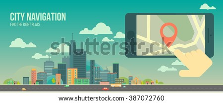 city navigation web banner