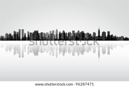 city new york panorama  vector