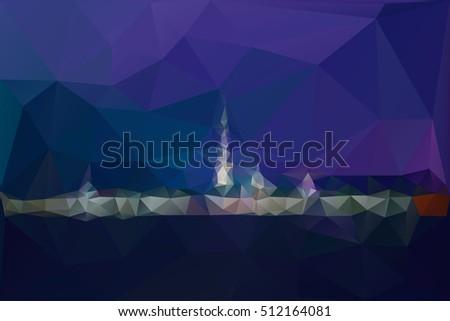 city night panorama with lights